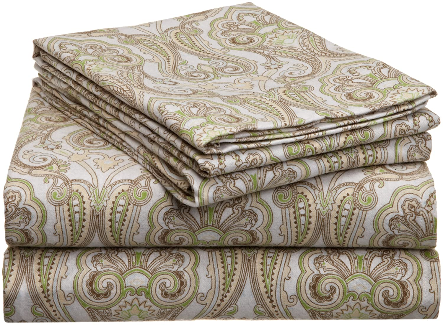 Pointehaven Heavy Weight Printed Flannel Sheet Set, Twin