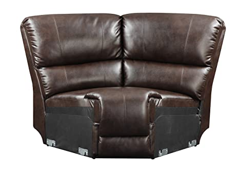 Glory Furniture G975-W Wedge for Sectional Sofa, Chocolate
