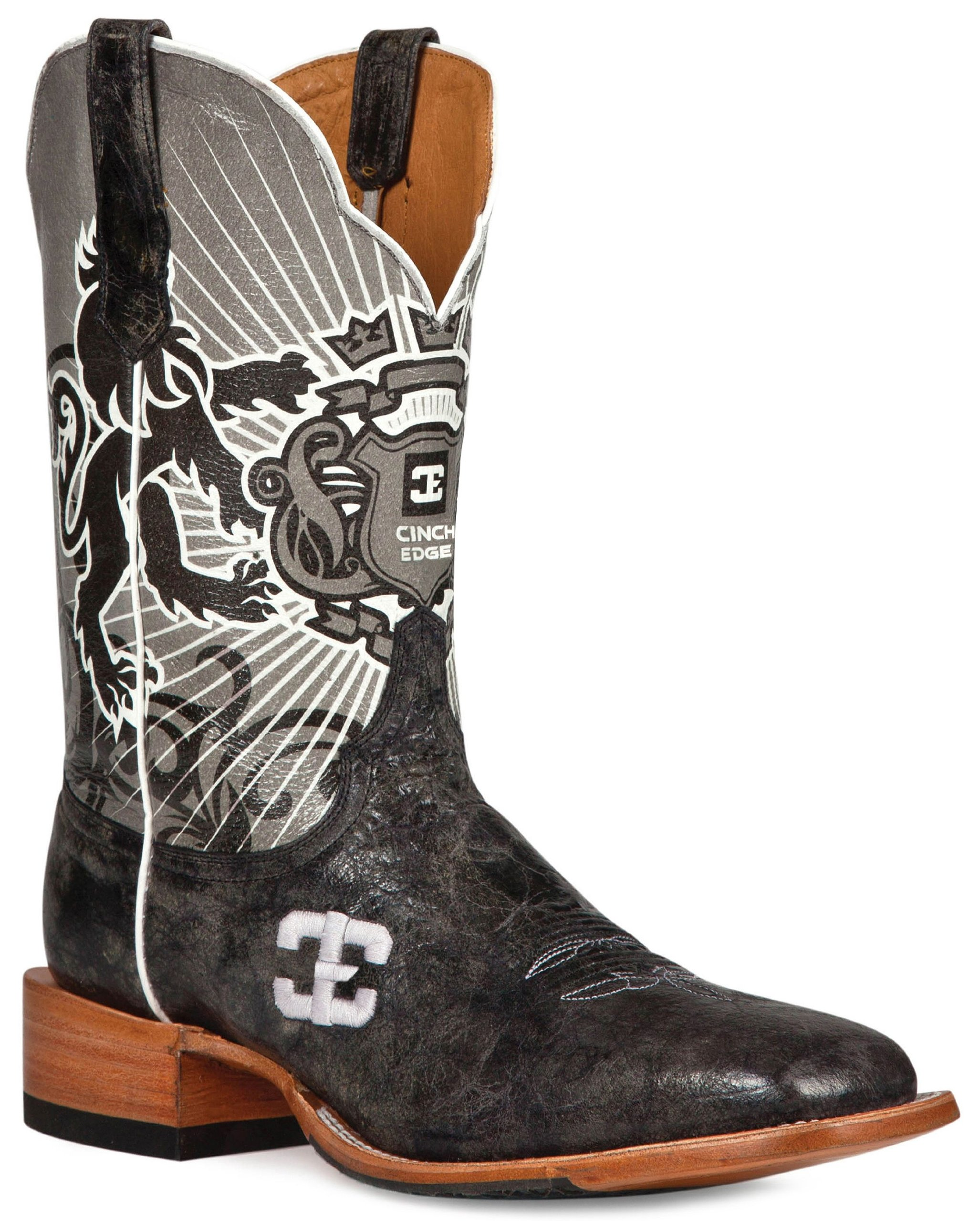 Cinch Men's Edge Honorable Cowboy Boot- Square Toe
