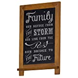 "COMPONO Vintage Chalkboard (16"" x 12"") Vertical Wall Mount Rustic Chalk Board for Wedding, Home, Kitchen, or Business use. Hand Made Slate Writing Surface (Cherry)"