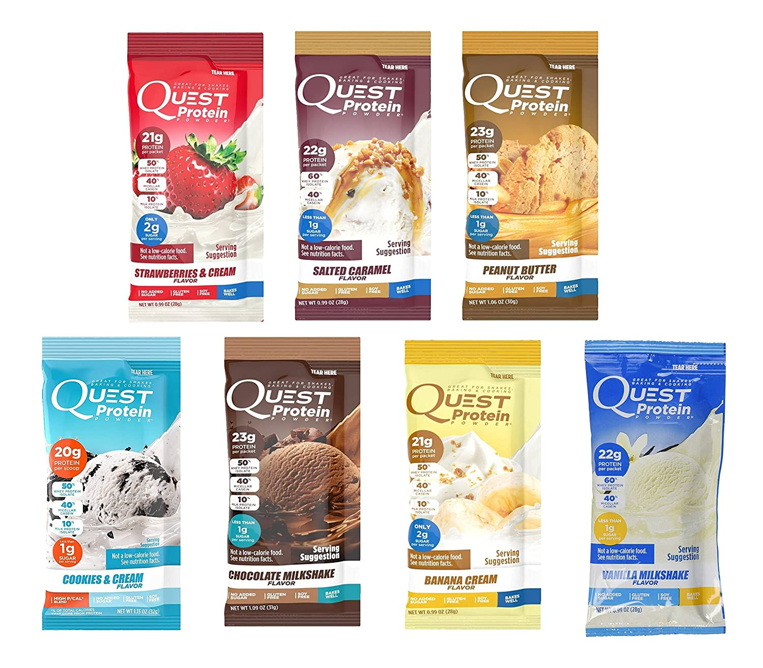 quest protein shake packet variety