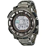 Casio Men's Pro Trek PRW-2500T-7CR Tough Solar Digital Sport Watch (Color: Silver/Black, Tamaño: One Size)