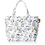 Peanuts Snoopy Insulated Lunch Tote Bag Thermo keeper 44582 Sketch (Color: White, Tamaño: ??21.5cmx??(??32cmx??22.5cm))