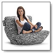 Big Joe Roma Bean Bag Chair Zebra Style