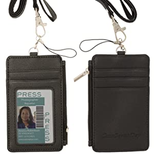 e268595db1c Cmxsevenday C68808 PU Leather Badge Wallet  Credential Holder Case With ID  Window