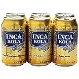 Inca Kola Golden Carbonated Beverage Soda - la kola dorada - 12 oz cans - 6pk (Tamaño: 12 oz)