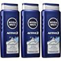 3-Pk. NIVEA Men Active3 3-in-1 Body Wash (16.9 fl. oz.)