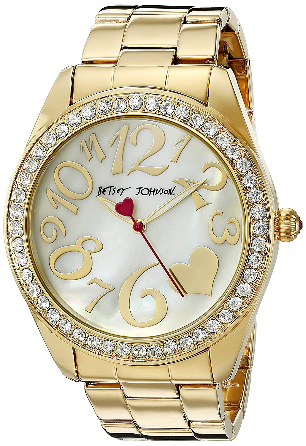 Betsey Johnson Women's BJ00249-27 Analog Display Quartz Gold Watch