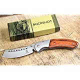 Wartech Buckshot Knives Thumb Open Spring Assisted Cleaver Classic Pocket Knife (PBK219WD) (Color: PBK219WD)