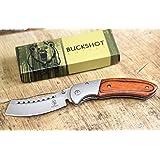 Buckshot Knives Thumb Open Spring Assisted Cleaver Classic Pocket Knife (PBK219WD)