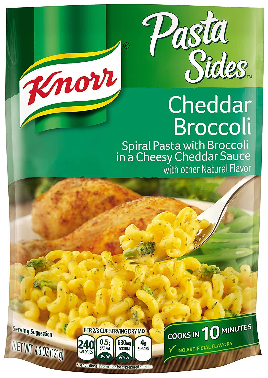 Knorr Pasta Sides, Cheddar Broccoli, 4.3 Ounce