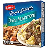 Lipton Recipe Secrets Soup and Dip Mix, Onion Mushroom 1.8 oz, Pack of 6