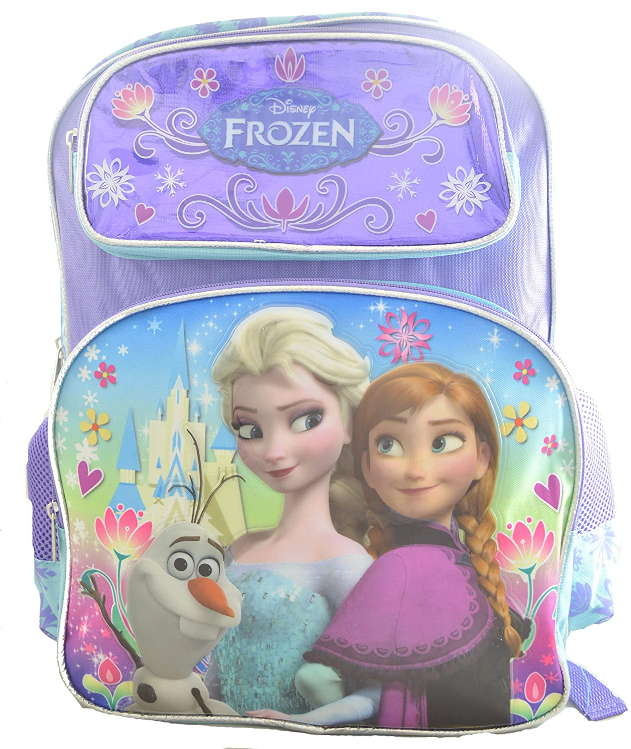 Disney Frozen Backpack, Elsa, Anna, Olaf, Large 16 School Bag
