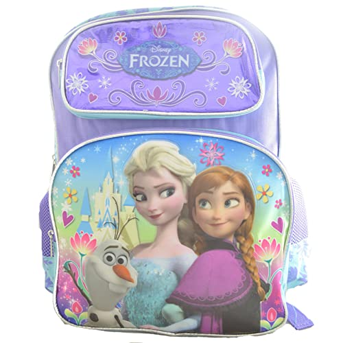 Disney Frozen Backpack Elsa Anna Olaf Large 16 School Bag