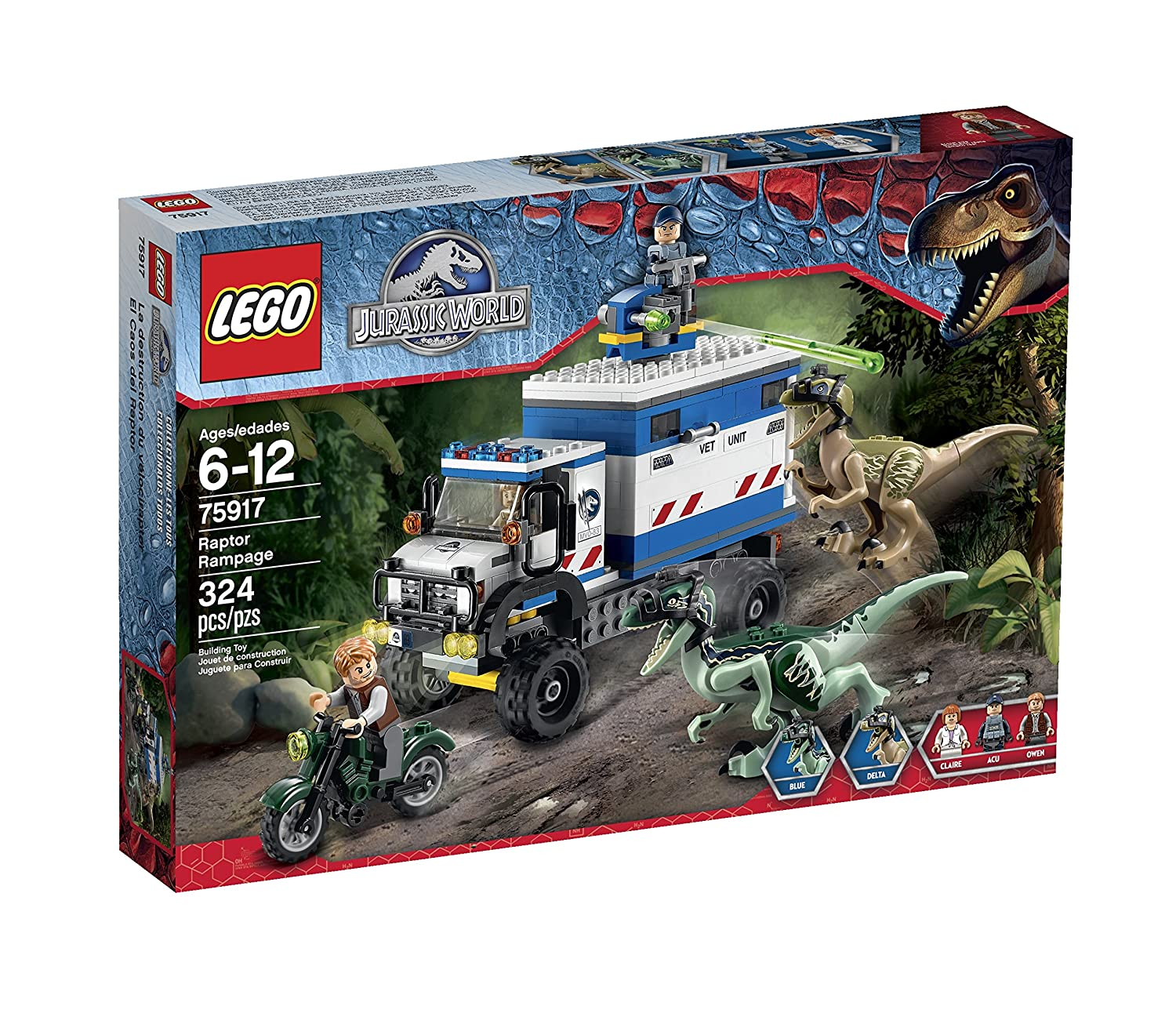 LEGO- Jurassic -World-Raptor-Rampage-75917-Building-Kit