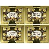 Ferrero Rocher Fine Hazelnut Chocolate 5.3oz (Pack of 4) - 12 pieces each pack (Tamaño: Pack of 4)