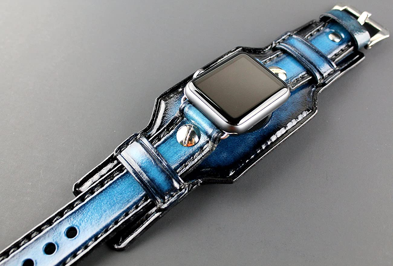 Blue Apple Watch Band, apple watch strap, Apple watch strap, Apple watch cuff, apple watch strap, apple watch 38 mm, apple watch 42mm	 0