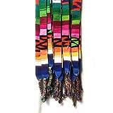 (Set of 3) Guatemalan Handmade Belt / Hatband, Wrap around self tie, Bright Multicolor Trim
