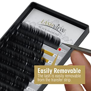 LASHVIEW Premium D Curl 0 15 Thickness Mixed Tray Eyelash Extensions