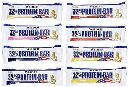 Weider 32% Protein Bar 24 Mix Pack