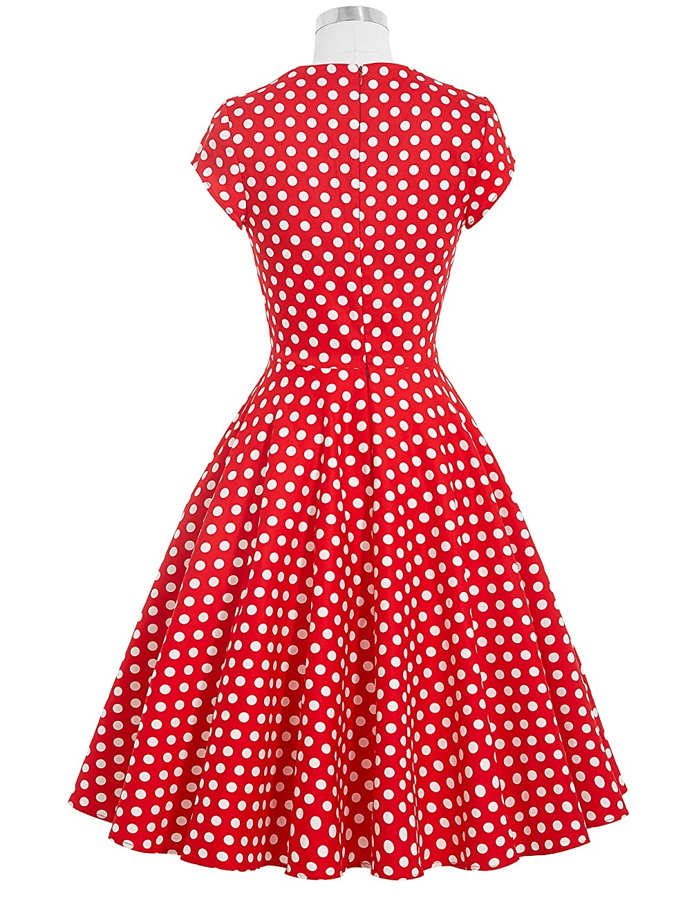 Belle Poque Women's 50's Cap Shoulder Knee-Length Vintage Church Dresses Size S-XL 1