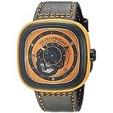 SEVENFRIDAY Men's P1-3 Kuka Robot Orange Analog Display Japanese Automatic Black Watch (Color: Orange/Black)