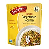 Tasty Bite Indian Entree Vegetable Korma 10 Ounce (Pack of 6), Fully Cooked Indian Entrée with Vegetables in a Creamy Coconut Sauce, Vegan, Gluten Free, Microwaveable, Ready to Eat
