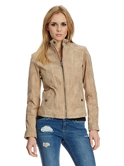 Tom Tailor Lederjacke, Damen W14-13 (Sand)