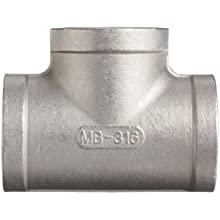 Stainless Steel 316 Cast Pipe Fitting, Tee, Class 150, NPT Female