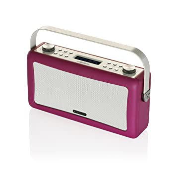 View Quest Hepburn DAB+ FM Radio Bluetooth Speaker Audio System Aux Deep Purple
