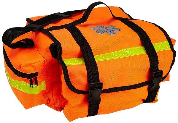 Primacare KB-RO74-O Trauma Bag, 7 Height x 17 Width x 9 Depth, Orange (Color: Orange)