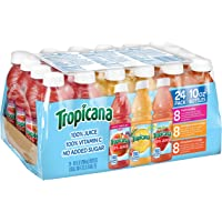 Tropicana 100% Juice 3-Flavor Variety Pack,10Oz Bottles,24 Count