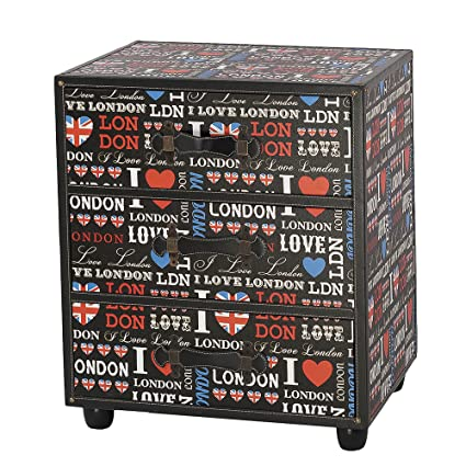 Mueble auxiliar 3 cajones 56x34x60 1 diseño