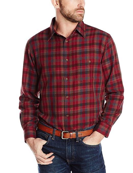Haggar Men's Long Sleeve Autumn Tweed Shirt