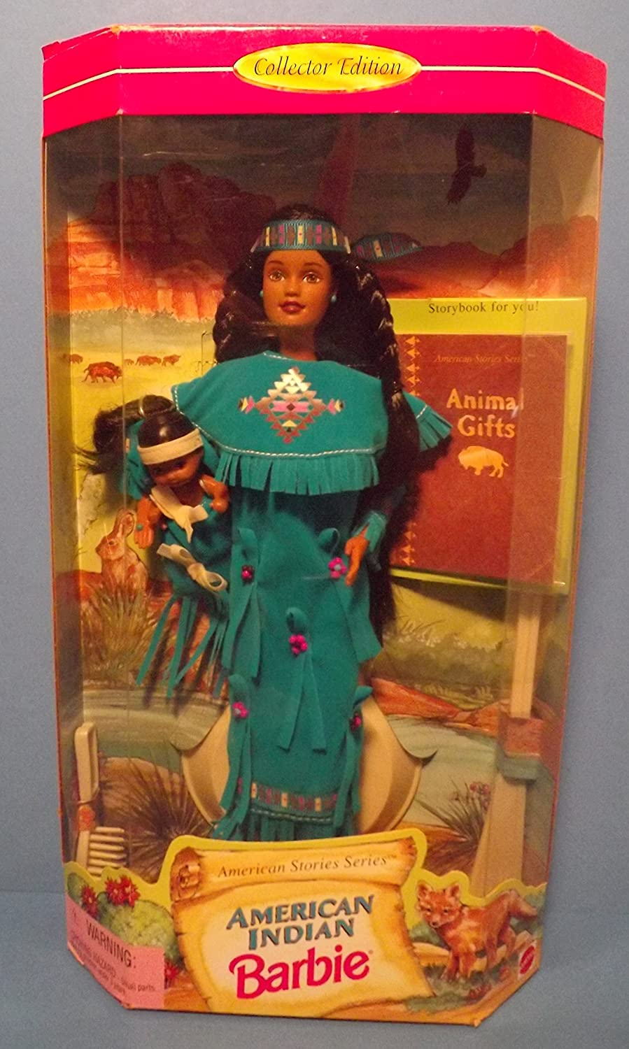 Barbie Collector # 17313 American Indian Barbie mit Baby NRFB als Geschenk