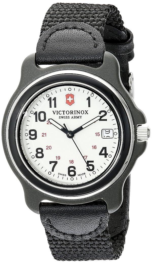 Victorinox Men's 249089 Original Black Watch with Nylon Band (Color: Black/White)