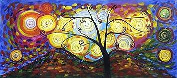 Pintura al óleo pintada a mano Árbol de la Vida