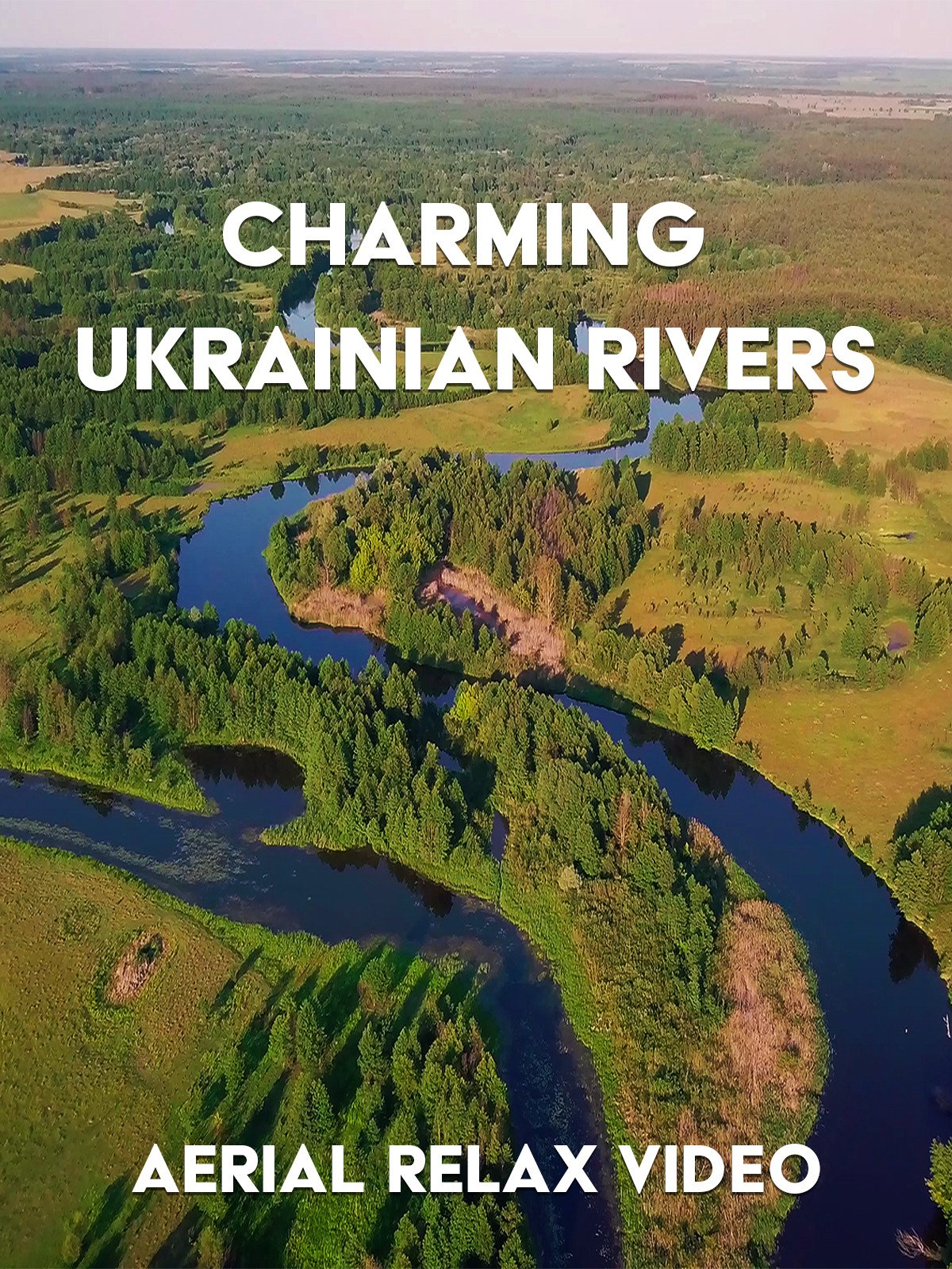 Aerial Relax Video: Charming Ukrainian Rivers