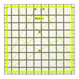Skyhawk Acrylic Quilting Ruler, 9.5x9.5 inch Square Quilter's Ruler - Clear and Accurate Markings (Tamaño: 9.5x9.5)