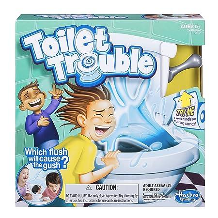 Hasbro – Toilet Trouble – Jeu de Société Delir'o Toilettes Version Anglaise