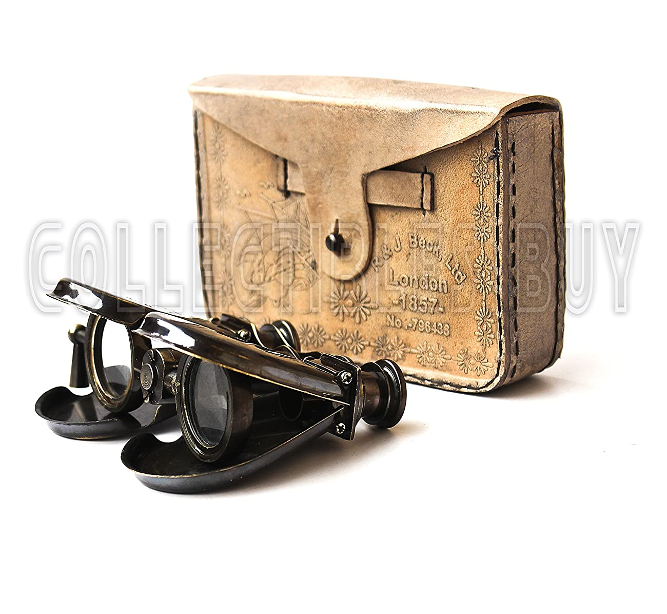 Classic Marine Spy Glass Antique London 1857 R & J Beck Brass Binocular Collectibles Gift 0