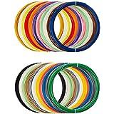 AmazonBasics PLA 3D Printer Filament, 1.75mm, 22 Assorted Colors, 1.25 kg total weight (Color: Multi-Colors (22-Assorted Color), Tamaño: 1.75mm)
