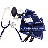 EMI #311 NAVY Pediatric Aneroid Sphymonamoneter Set Child and Infant cuff Plus Basic Dual Head Stethoscope