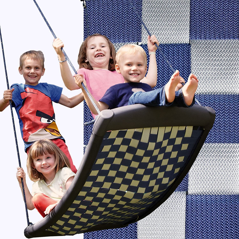 die-schaukel 102 – Größe Mehrkindschaukel 136 x 66 cm, silber/blau online kaufen