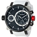 Reloj Red Line RL-50048-SS-BB-01-WH para hombre, dual, cronógrafo, dial negro y pulsera de silicona.