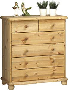 Steens Max 2+4 Pine Chest of Drawers, Lyed Oil Finish       Customer reviews and more information