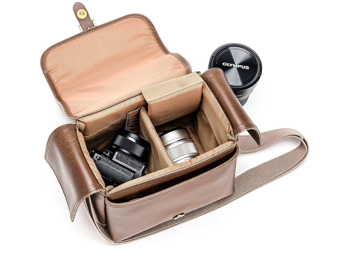 Olympus Tracker Classic Design Vintage Camera Bag (Brown) 3