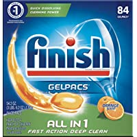 84-Count Finish All-in-1 Gelpacs Dishwasher Detergent Tablets (Orange)