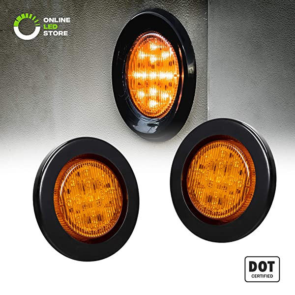 5pcs Teardrop Style Amber Cab Roof Top Marker Clearance Light Kit For Dodge Ram