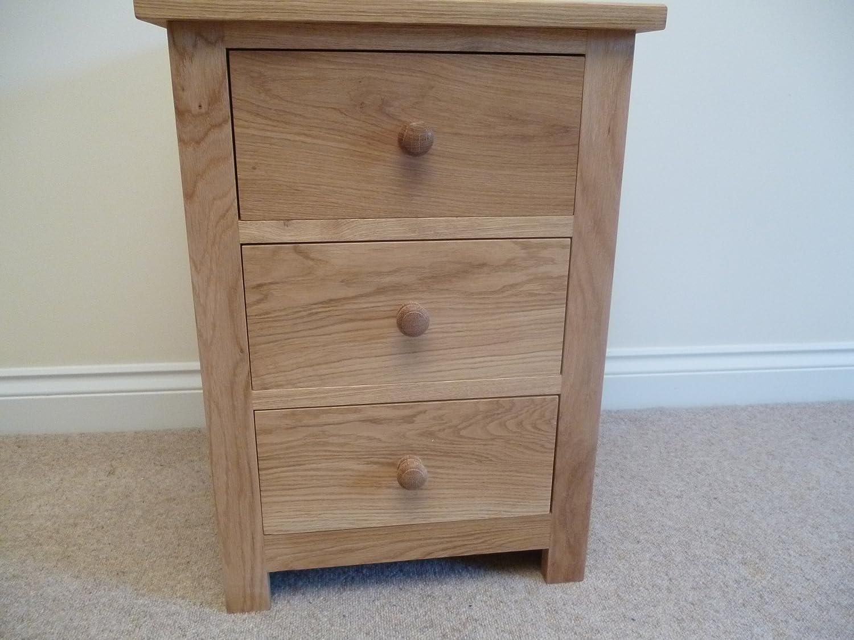 Nachttisch mit 3 Schubladen, ideal für jedes Schlafzimmer, Kinderzimmer oder Arbeitszimmer bestellen
